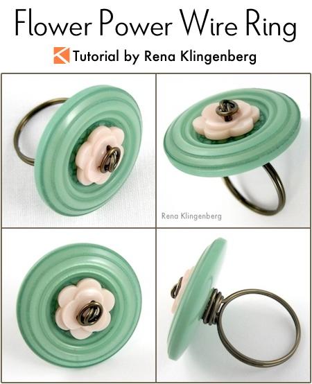 Flower Power Wire Ring Tutorial by Rena Klingenberg