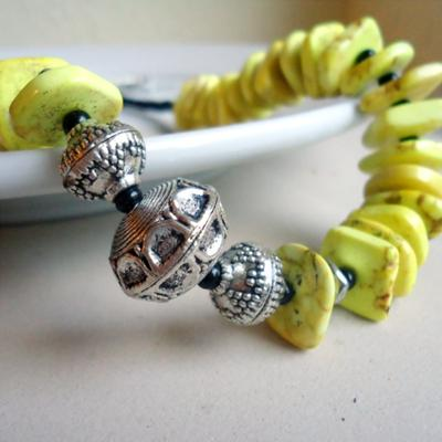 Fun, Funky Yellow and Black Necklace