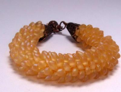 Golden Dragon Bracelet in Crochet!