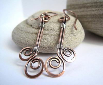 Groovy Copper Spirals