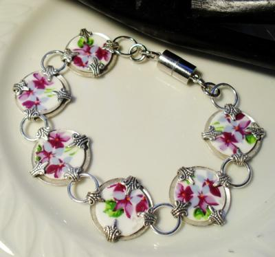 Handcrafted Broken China Bracelet