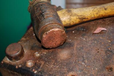 Copper faced hammer