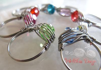 Herringbone Weaved Rings