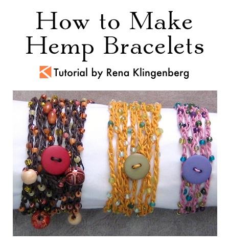 How to Make Hemp Bracelets Tutorial by Rena Klingenberg