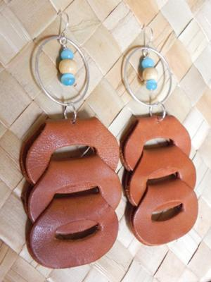 Ladder Leather Earrings