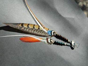Lady Amhearst Feather Earring