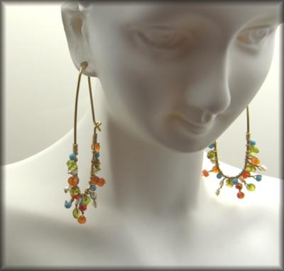 Mexican Siesta Ear Hoops ~ Jewels2LiveBy