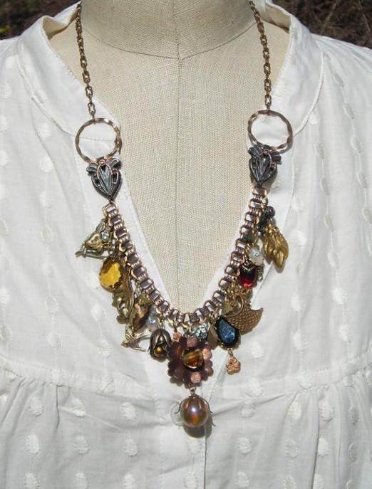 Vintage Finds Charm Necklace