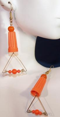 Orange Deco Wire Nut