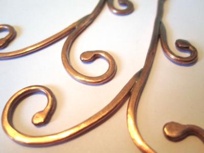 Organic Copper Swirl Earrings