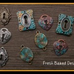 "Painted ""Patina"" Charms"