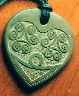 """Celtic Knotwork"" shale pendant by Stephen Lee"