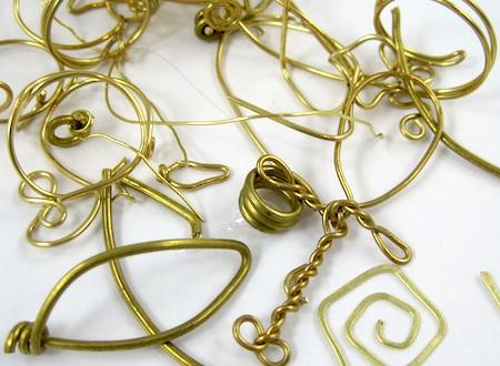 brass wire scraps