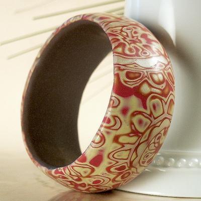 red-paisley-flower-bangle-bracelet-21553135
