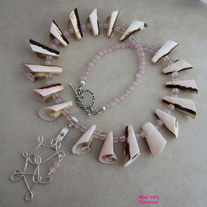 Rose Quartz & Curly Shell with Freeform