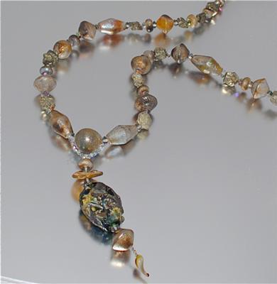 Handmade lampwork necklace