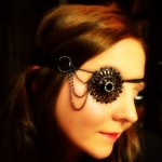 Scandalous Steampunk Brooch Eye Patch