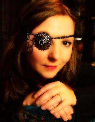 Scandalous Steampunk Brooch Eye Patch by Marissa Dunthorn