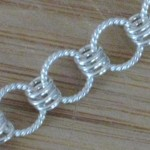 Simple Chainmaille to Use Up Mistake Silver