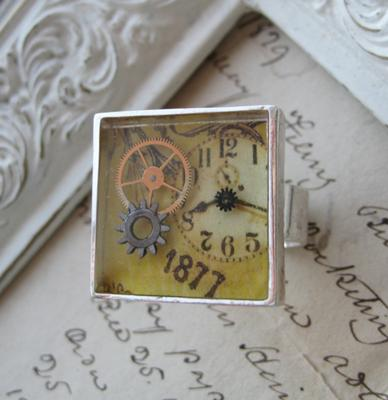 Antique watch part ring