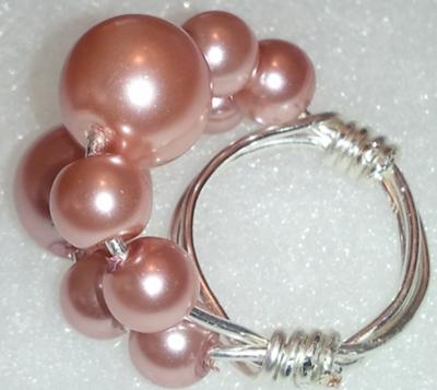 The Elegance of a Glass Pearl Ring