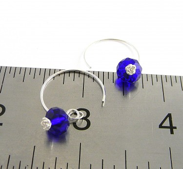 crystal elements and silver handmade earwires