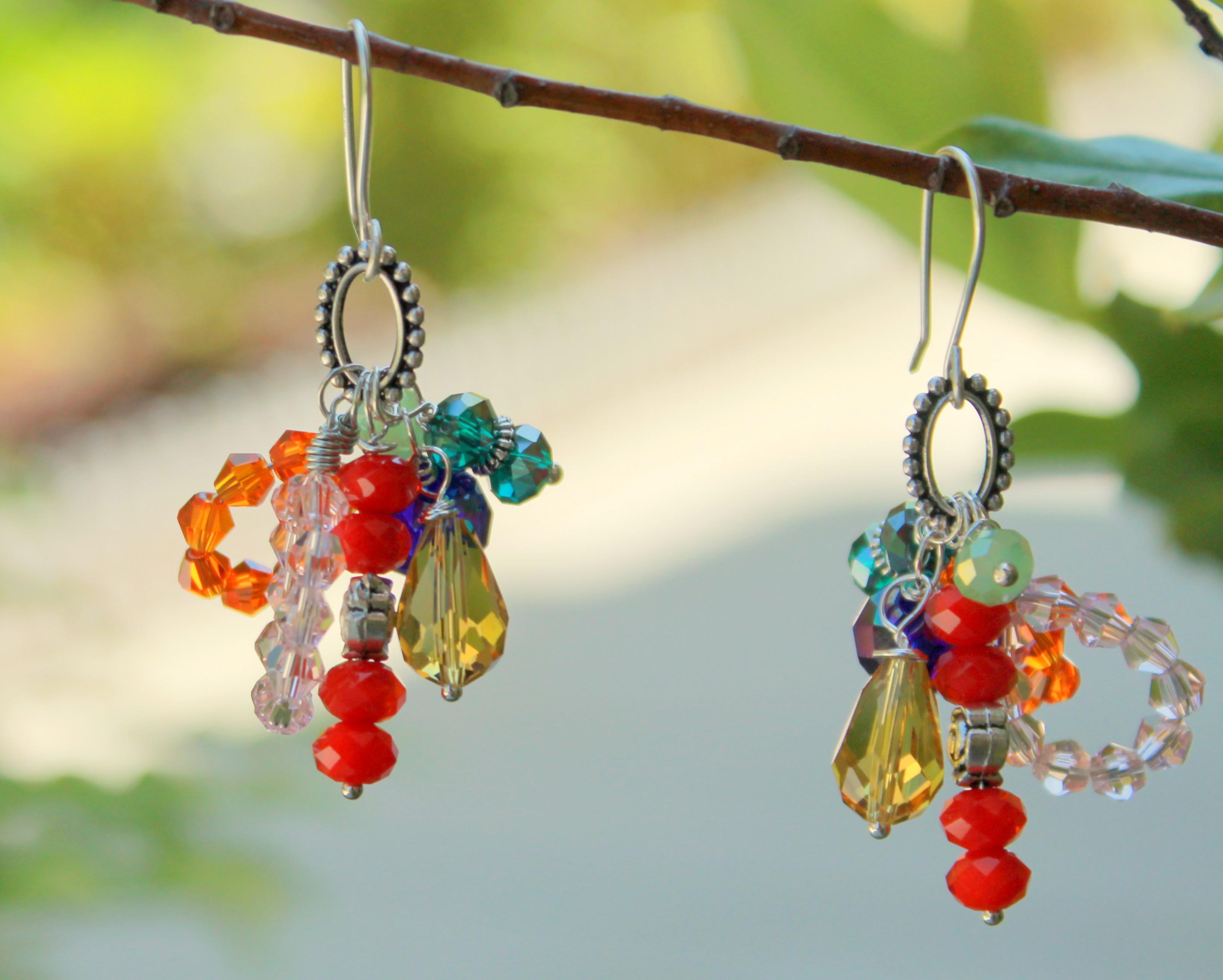 Elegant Flower Cluster Earrings
