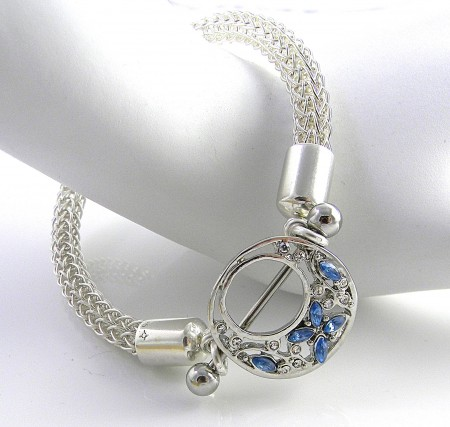 Sterling Silver Viking Knit with Shield and Barbell