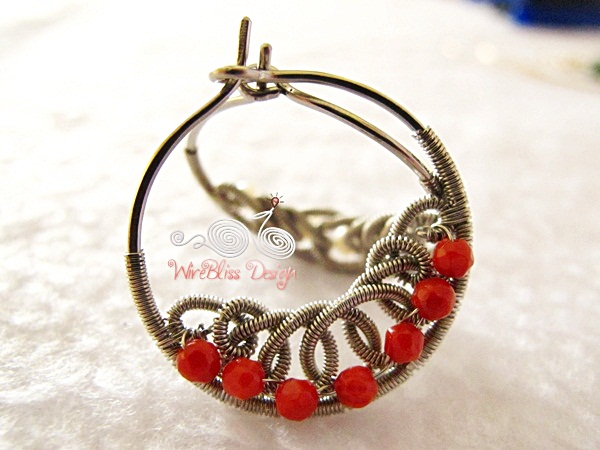 Coiled Filigree Hoops