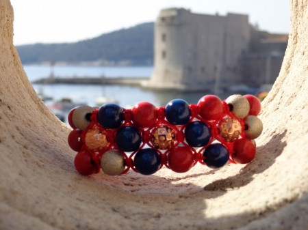 adriatic shamballa bracelet red and blue