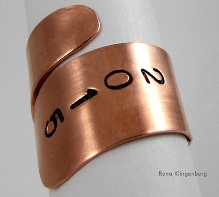 Adjustable Class Ring Tutorial by Rena Klingenberg, Jewelry Making Journal