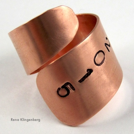 Adjustable Class Ring Tutorial by Rena Klingenberg, Jewelry Making Journal