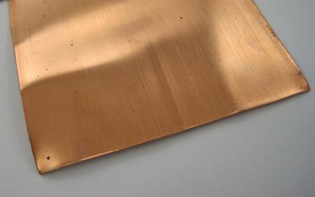 Copper sheet for ring tutorial by Rena Klingenberg