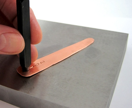 Stamp numbers on metal ring - Adjustable Class Ring Tutorial by Rena Klingenberg