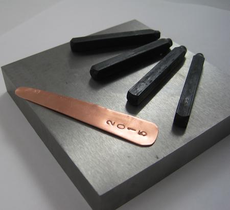 Stamped metal for Adjustable Class Ring by Rena Klingenberg