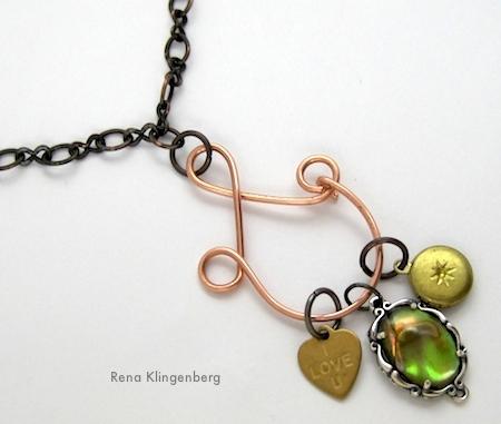 Charm Holder Pendant Tutorial by Rena Klingenberg