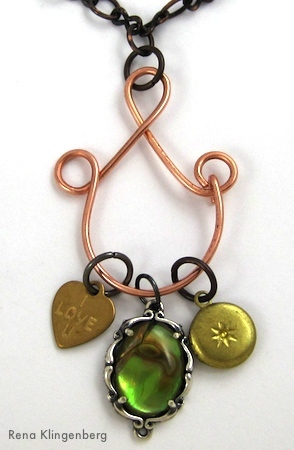 Charm Holder Pendant Tutorial by Rena Klingenberg