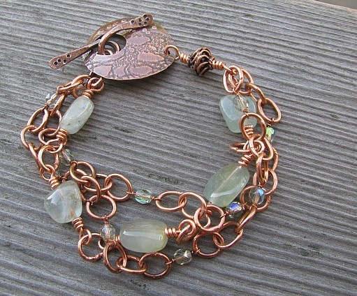 Copper Toggle Triple Bracelet (say that three times fast)