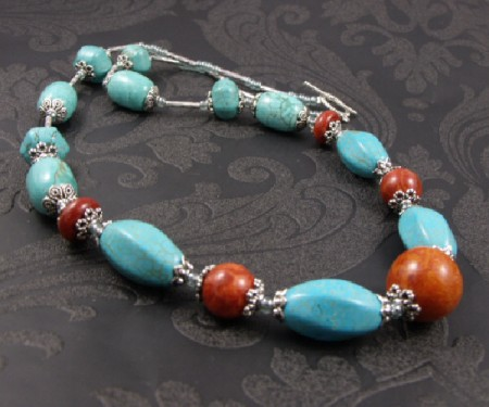 Chunky Turquoise Amp Coral Necklace Jewelry Making Journal