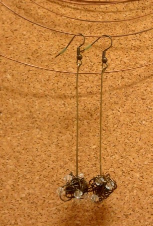 bronze wire wrapped earrings