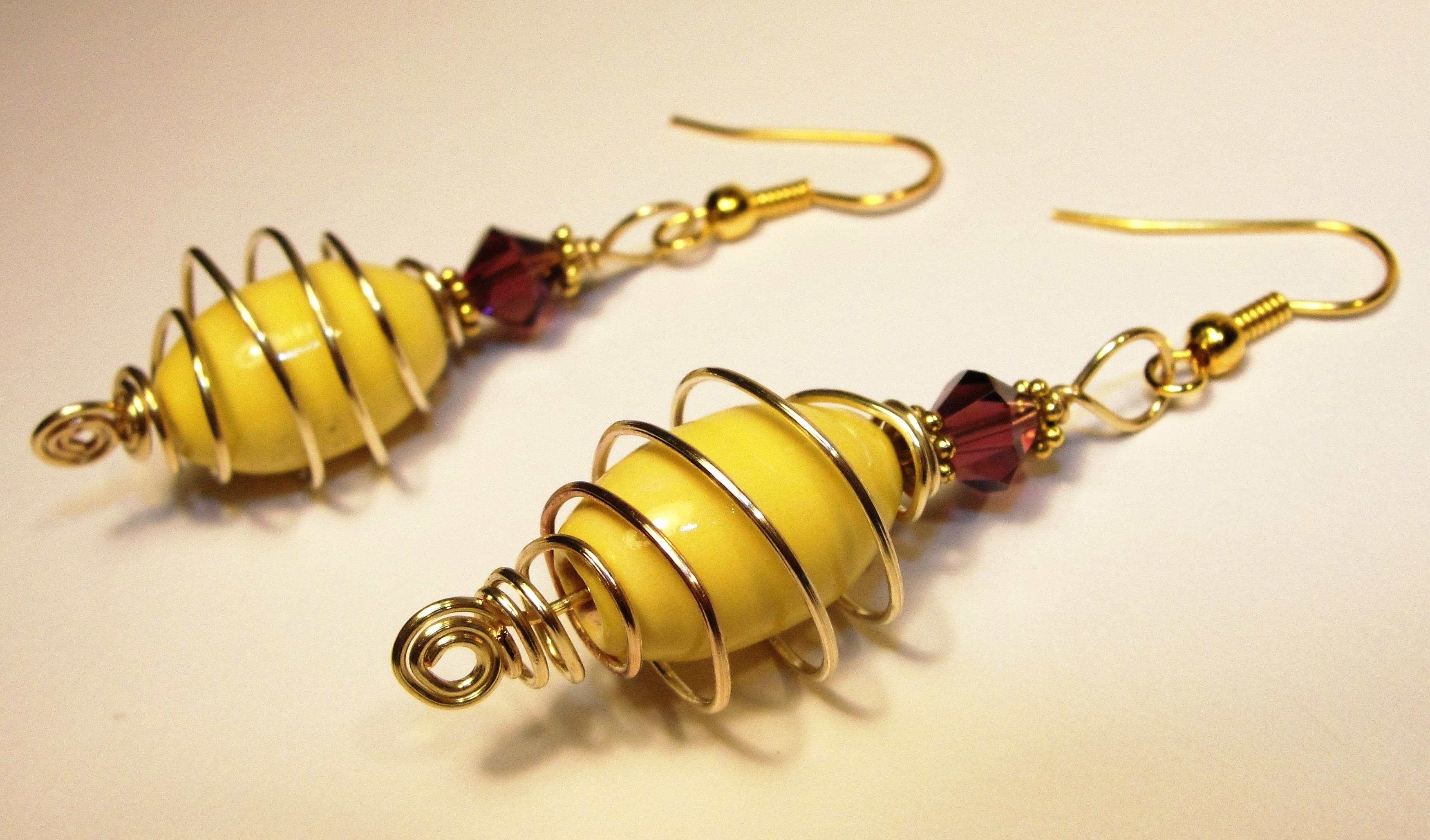 """My """"Yellow Planet"""" Earrings"""