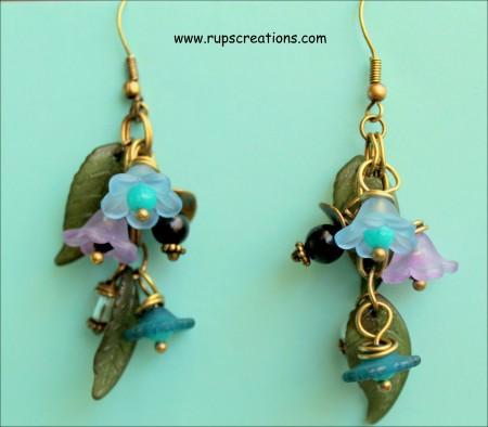 Lovely Light Lucite Flower Earrings Jewelry Making Journal
