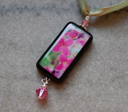 Pink Blossoms Photo Pendant