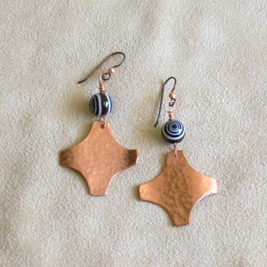 copper scraps earrings