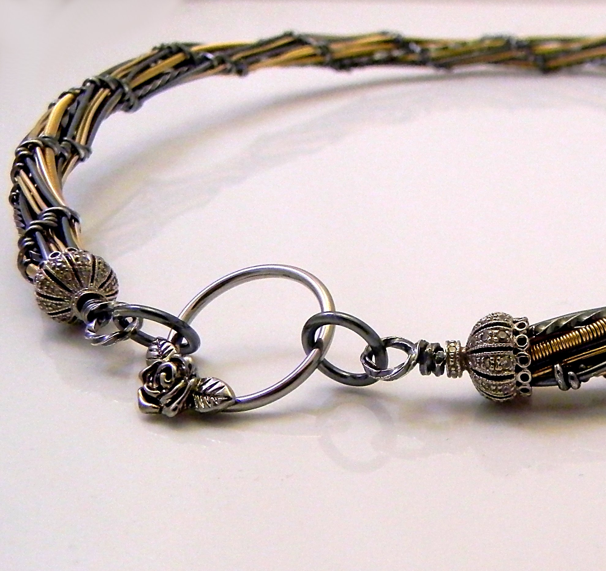 Mixed Metals Wire Choker