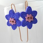Flower Power Button Earrings (Tutorial)