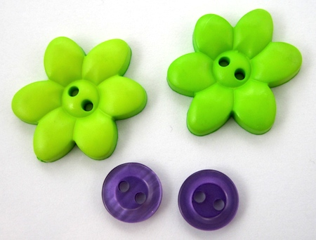flower buttons for Flower Power Button Earrings Tutorial by Rena Klingenberg