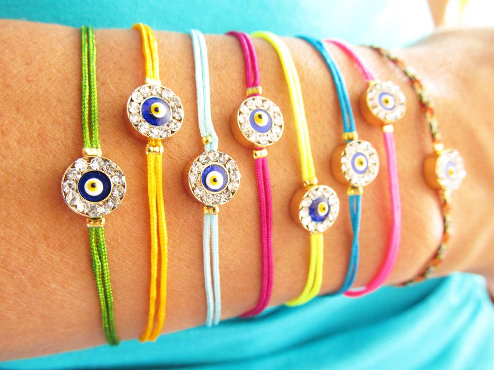 Handmade Evil Eye Bracelets for Summer Fun!