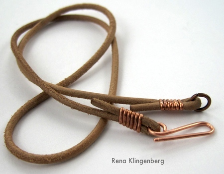 Leather Choker Tutorial by Rena Klingenberg
