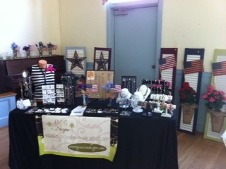 jewelry show table set up